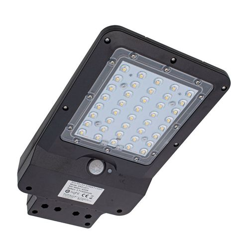 Čierna solárna pouličná lampa 8W 4000K IP65