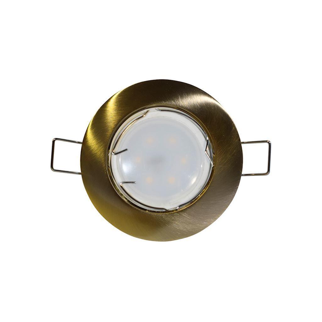 Sada mosadzných stropných očí Cast Basic + objímka žiarovky 1,5 W Gu10