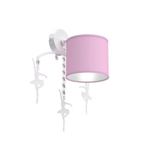 Ružová nástenná lampa balerína ružová 1x E27