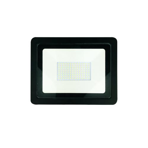 Čierny 100W LED svetlomet. Farba: 6000K IP65