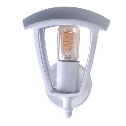 Záhradná nástenná lampa Fox White 1x E27 IP44