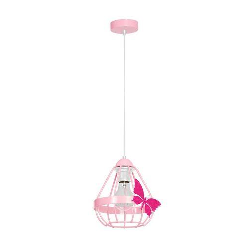 Ružová prívesková lampa Kago Pink 1 Xe27