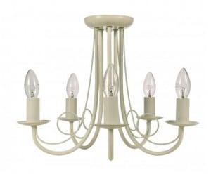 Klasické závesné svietidlo do obývacej izby Perła 5, závesné, biele small 0