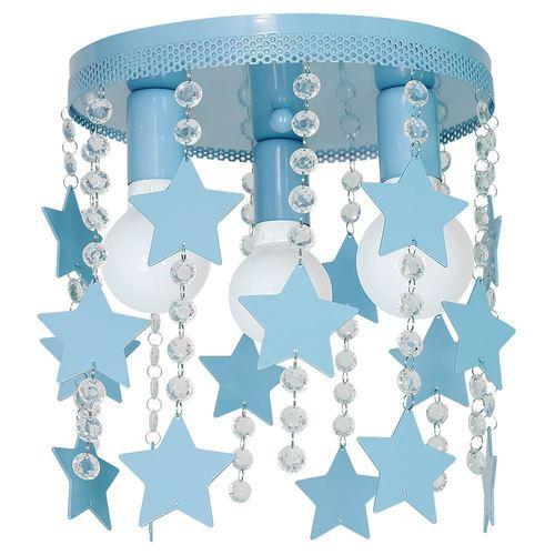 Modré stropné svietidlo Star 3x E27