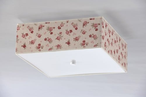 Plafond in Rosettes Square Shabby Chic