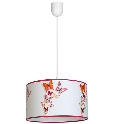 Viacfarebná závesná lampa motýle 1x E27