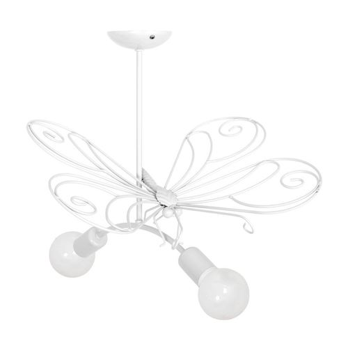 Luster Butterfly 2 White 2x E27