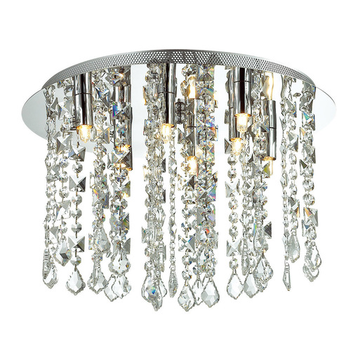 Klasická 8-bodová stropná lampa Shiraz G9 Crystals