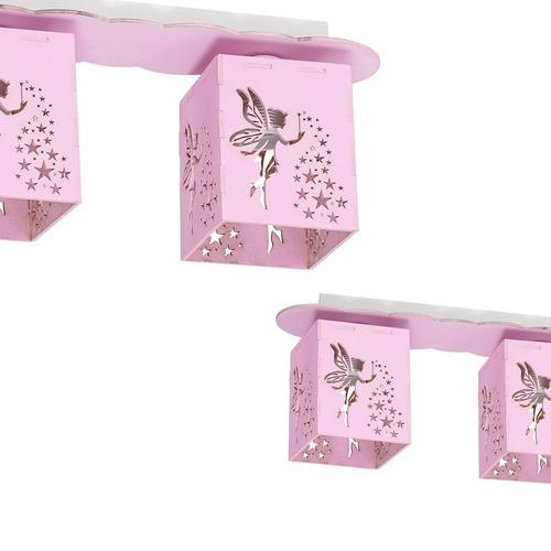 Stropné svietidlo Fairy Pink 3x E27 60 W