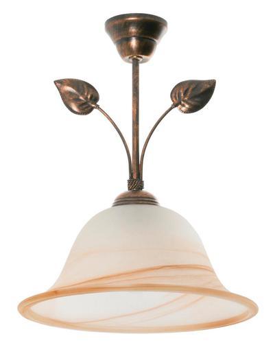 Klasická závesná lampa čierna + meď