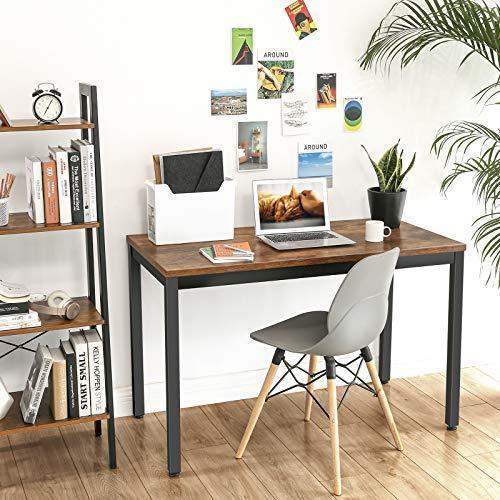 Rustikálny hnedý počítačový stôl LWD64X