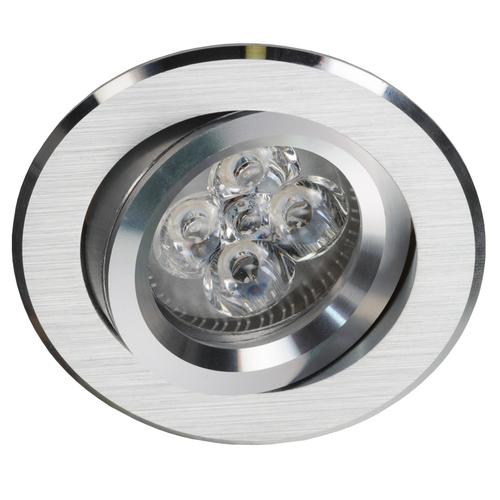 Strieborný okrúhly náklon Spot Alcoy 540.SC