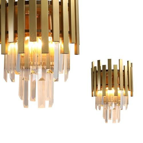 Krištáľová nástenná lampa Aspen Gold 2x E14