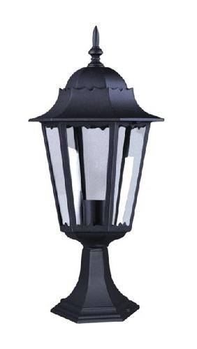 Nízka vonkajšia čierna stojaca lampa K-5006S zo série LOZANA