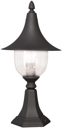 Nízka čierna vonkajšia stojaca lampa K-8133 zo série BOSTON