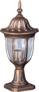 Nízka vonkajšia stojaca lampa K-5007S2 / N čierna / zlatá zo série VASCO