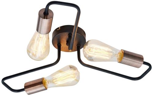 Stropné svietidlo Herpe 3X60W E27 čierne
