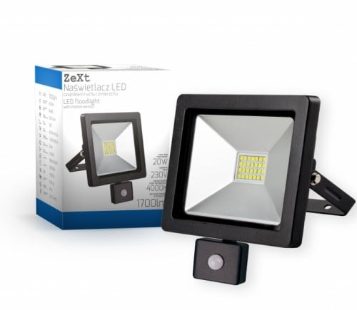 LED svetlomet tenký s pohybovým senzorom 20W / 230V 6400K PIR
