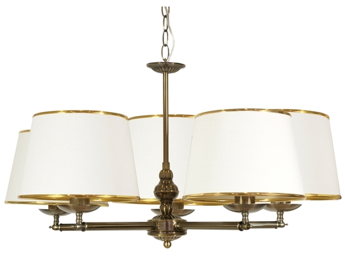 Závesná lampa Grand 5X40W E14 Patina