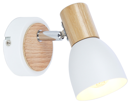Anabel 2 lampa nástenná lampa 1Xmax25W E14 biela + drevo
