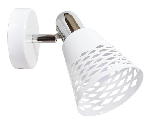 Nástenné svietidlo Discovery 1X40W E14 chróm / biela