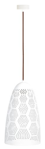 Závesná lampa Bene 20/33 kužeľ 1X60W E27 prelamované biele