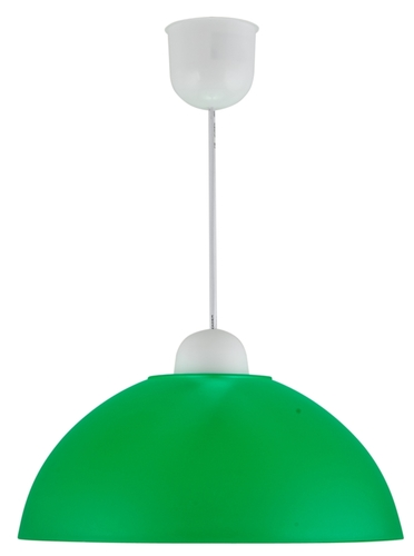 Závesná lampa Mika plastová žiarovka E27 1X60W, zelená