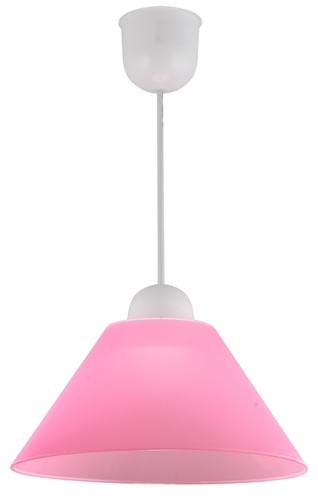 Závesná lampa Fama plastová žiarovka E27 1X60W, ružová
