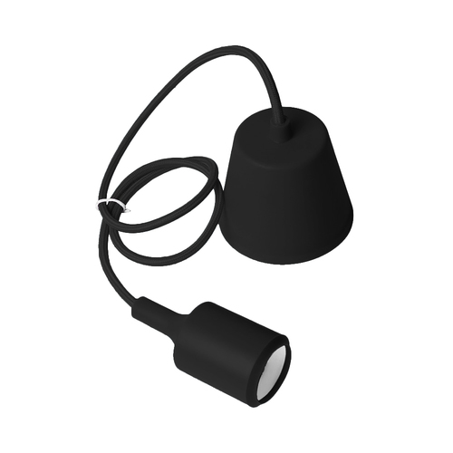 Stropné svietidlo Moderna E27 60W čierne