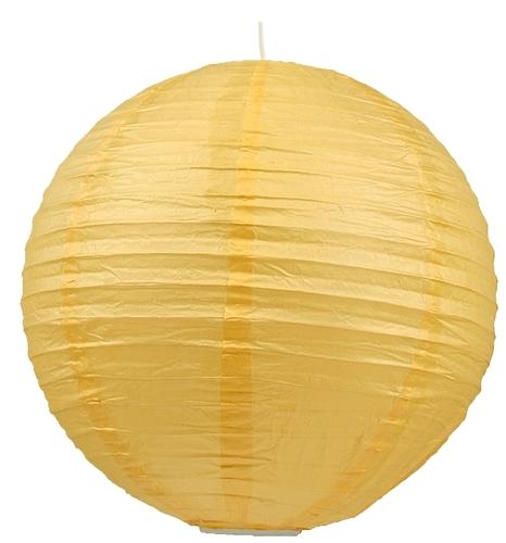 Papierová lampa - kokonová papierová guľa 40 žltá