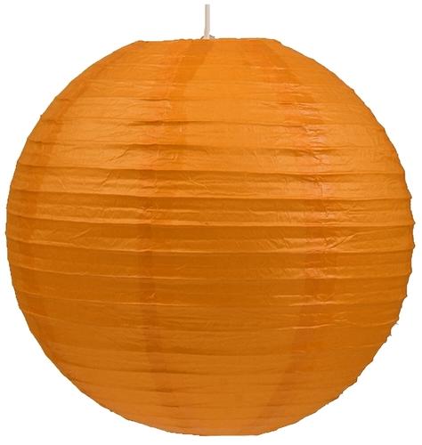 Papierové tienidlo - kokonová papierová guľa 60 oranžová