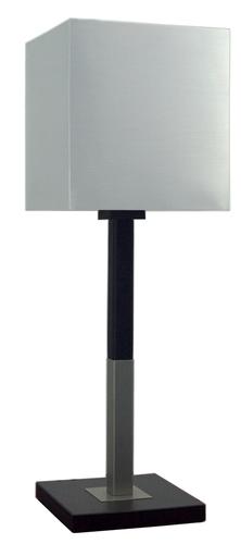 Veľká lampa do skrinky Favorita 1X60W E27 drevo so strieborným tienidlom 23X23H25