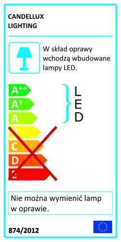 Nástenná lampa Moon Lamp 5W Led Iq Kids zlatá + šedá