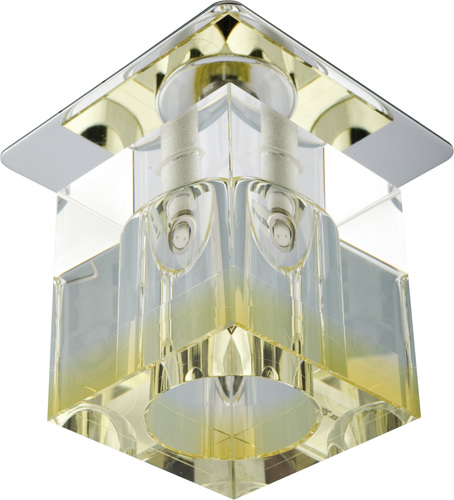 Sk-19 Ch / Ye-P G4 Chrome, strop, fixný krištáľ, 20 W, žltý remienok G4