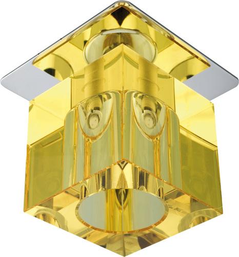 Sk-19 Ch / Ye G4 Chrome zapustený stropný konštantný kryštál 20W G4 žltý