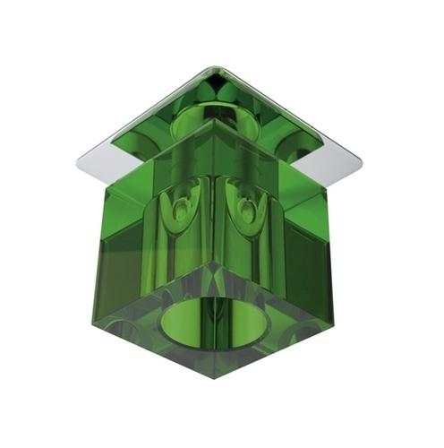 Strop Sk-19 Ch / Gr G4 Chrome vstavaný konštantný kryštál 20W G4 zelená