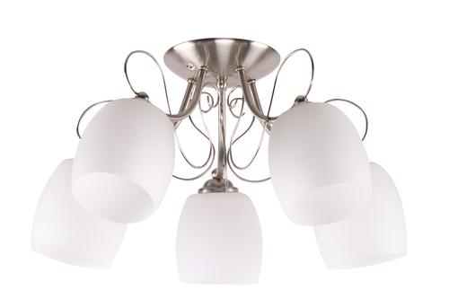 Stropná lampa Amba 5X40W E27 biela