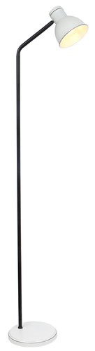 Zumba stojaca lampa na sedlovku jednoduchá 1X40W E27 biela + čierna