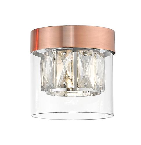 C0389 01 A L7 Ac Gem stropná lampa meď / starožitná meď