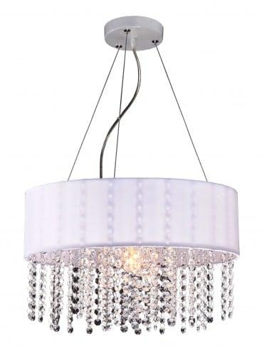 Madridská lampa visiaca bielymi diamantmi Glamour