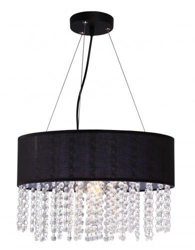 Madridská lampa visiaca čiernymi diamantmi Glamour