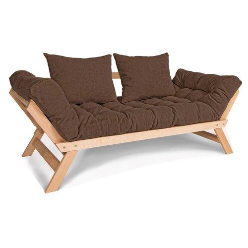 Rozkladacia pohovka Allegro ležadlo surové drevo - hnedá