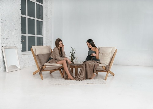 Lehátko surové drevo Allegro - krém