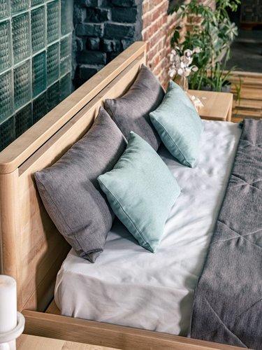 Drop Hard spálňová posteľ 160x200 naolejované drevo (ľanový olej)