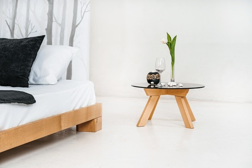 Kocková manželská posteľ 160x200 surového dreva