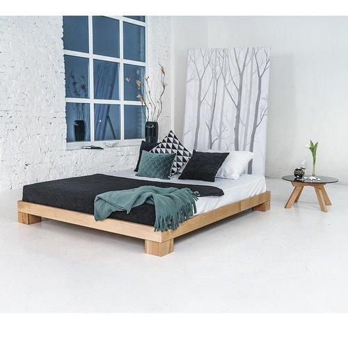 Kocková manželská posteľ 140x200 naolejované drevo (ľanový olej)