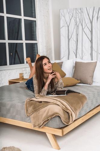 Manželská posteľ Allegro 160x200 surového dreva