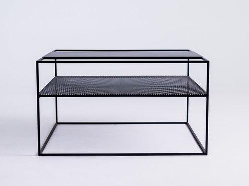 Konferenčný stolík MATRIX METAL 80 - čierny