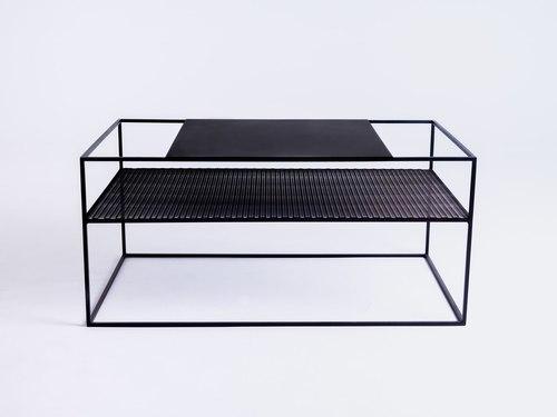 Konferenčný stolík MATRIX METAL 100X60 - čierny