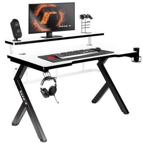 Ultramoderný herný stôl HZ-Hero 5.0 biely